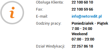 Kontakty NetCredit.pl