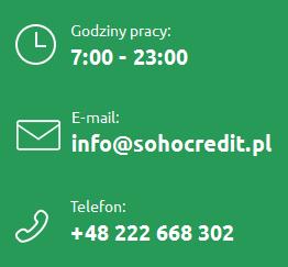 Sohocredit.pl godziny pracy