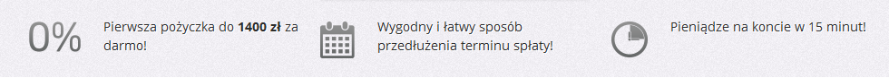 Pierwsza pożyczka do 1400 zł za darmo