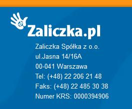 Zaliczka.pl Kontakt